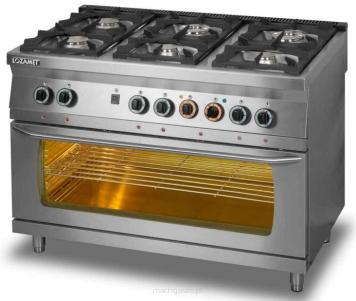 Kuchnia Gazowa 6 Palnikowa Z Piekarnikiem Elektrycznym 3 X Gn 11