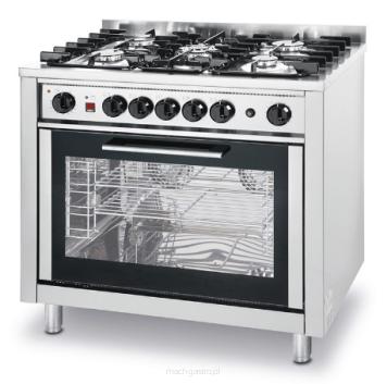 Kuchnia Gazowa 5 Palnikowa Z Konwekcyjnym Piekarnikiem Elektrycznym I Grilem